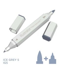 Illustrator by Spectrum Noir Single Pen - Ice Grey 5
