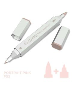 Illustrator by Spectrum Noir Single Pen - Portrait Pink
