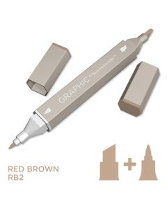 Graphic by Spectrum Noir Single Pens - Red Brown