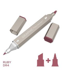 Graphic by Spectrum Noir Single Pens - Ruby