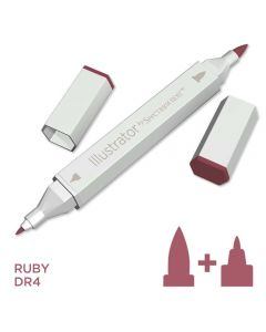 Illustrator by Spectrum Noir Single Pen - Ruby