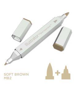 Illustrator by Spectrum Noir Single Pen - Soft Brown