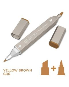 Graphic by Spectrum Noir Single Pens - Yellow Brown
