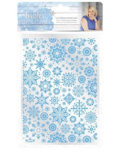 Sara Signature Winter Wonderland 5x7 Embossing Folder - Fluttering Snowflakes