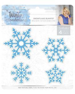 Sara Signature Winter Wonderland Metal Die - Snowflake Quartet