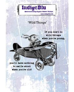 Indigoblu Wild Things A6 Red Rubber Stamp