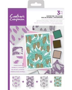 Crafter's Companion Background Layering Stamps - Winter Pine
