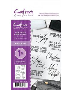 Crafter's Companion A6 Rubber Stamp - Winter Joy