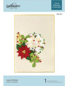 Spellbinders Cut & Emboss Folder - Laurel & Bows