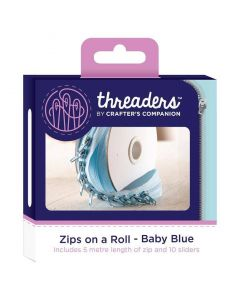 Zips on a Roll - Baby Blue thumb