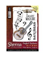 Sheena Douglass Perfect Partners Day of the Dead A6 Rubber Stamp Set - Danse Macabre