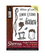 Sheena Douglass Perfect Partners Day of the Dead A6 Rubber Stamp Set - Union of Souls