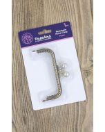 Threaders Purse Clasp - Rectangle (Pearl)