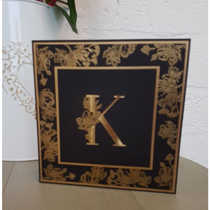 Gemini Foilpress Expressions Large Stamp And Die Set Letter K