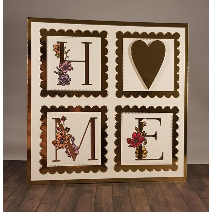 Gemini Foilpress Expressions Large Stamp And Die Set Letter E