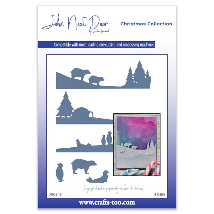 John Next Door Christmas Dies.John Next Door Polar Scenes Dies 4pcs
