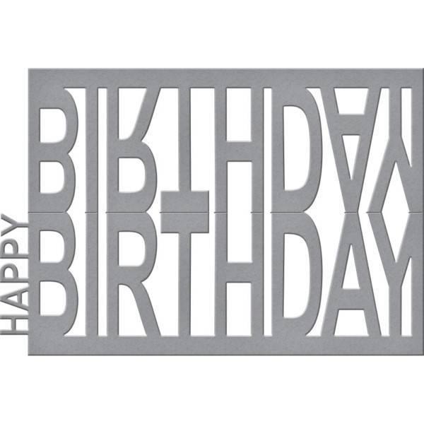 happy birthday easel die price