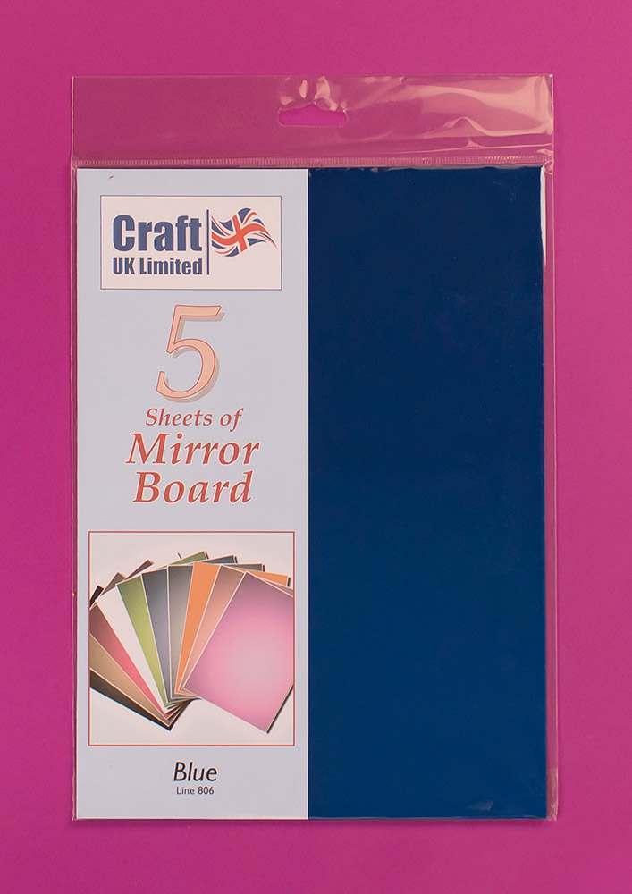 Arts & Crafts Craft UK 5 Sheets Mirror Board - Pale Blue
