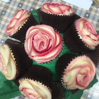 Cupcakes and Classes-pink bouquet