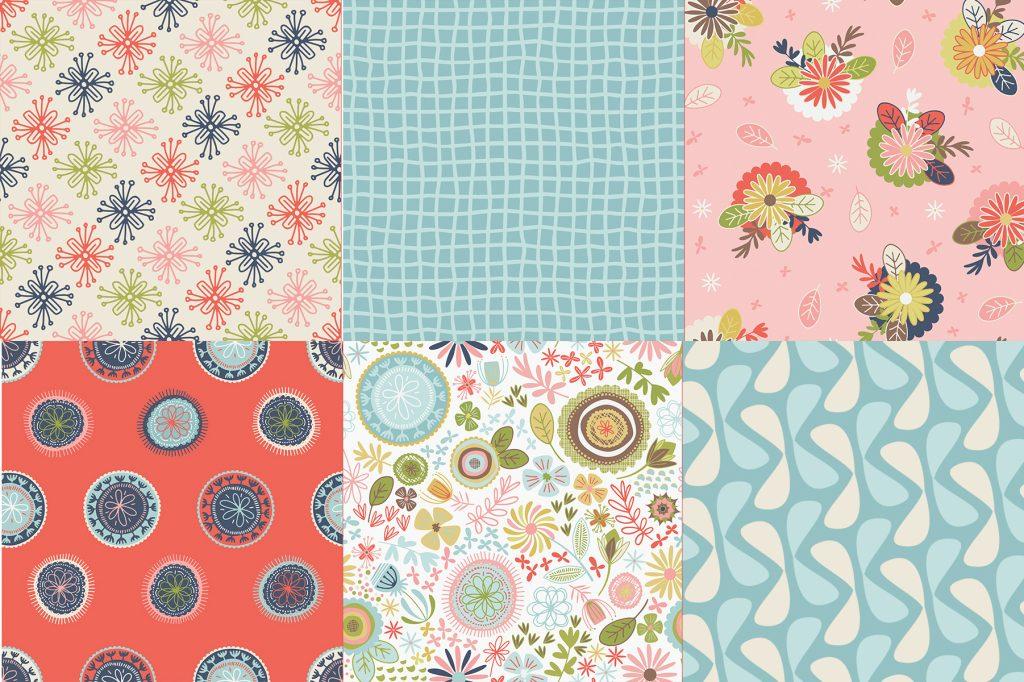 Sew Retro 10 Stackers by Sara Davies 42 Pieces