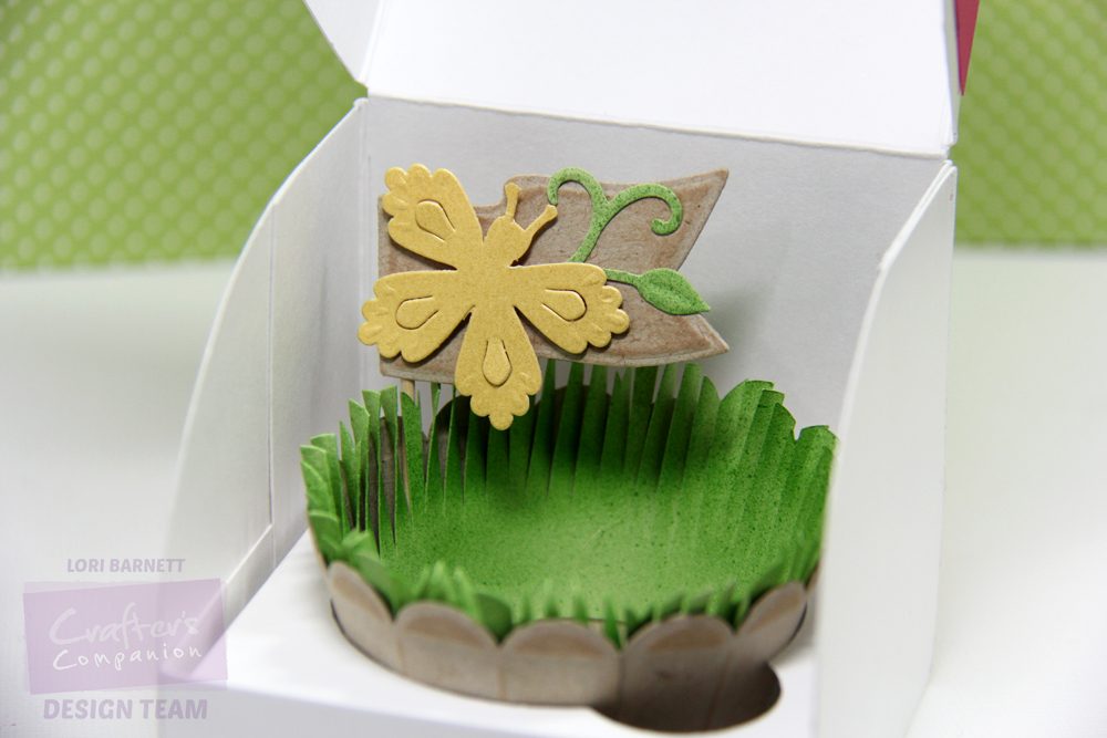 Spring Cupcake Box Wrapper and Pick Closeup inside box Lori Barnett Watermarked