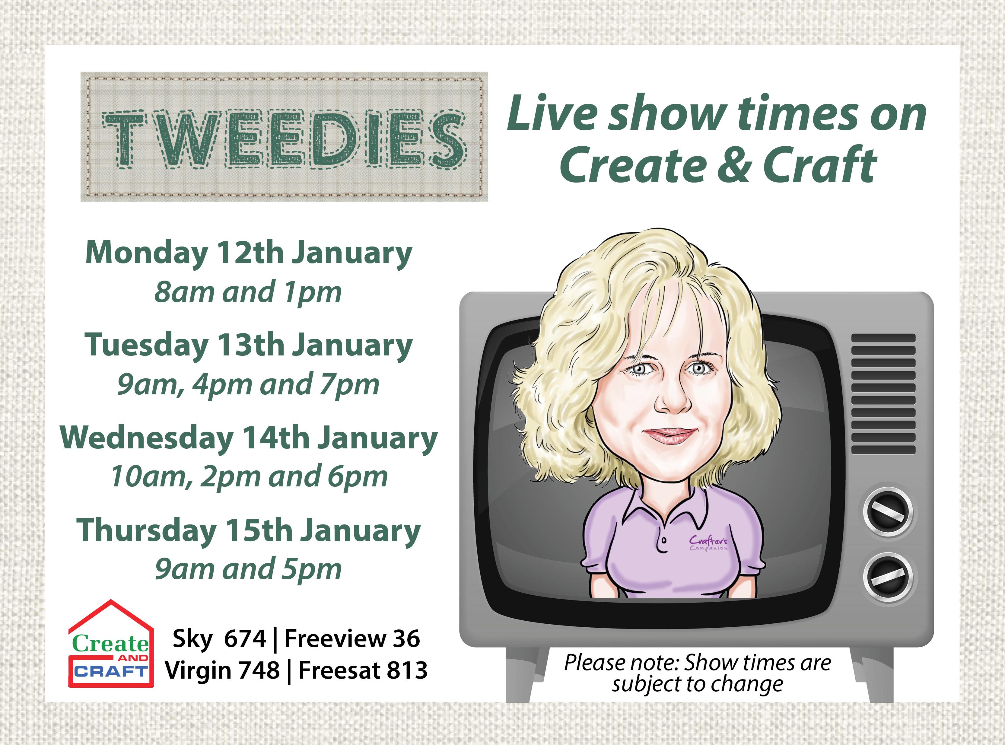 Tweedies show times (FB)