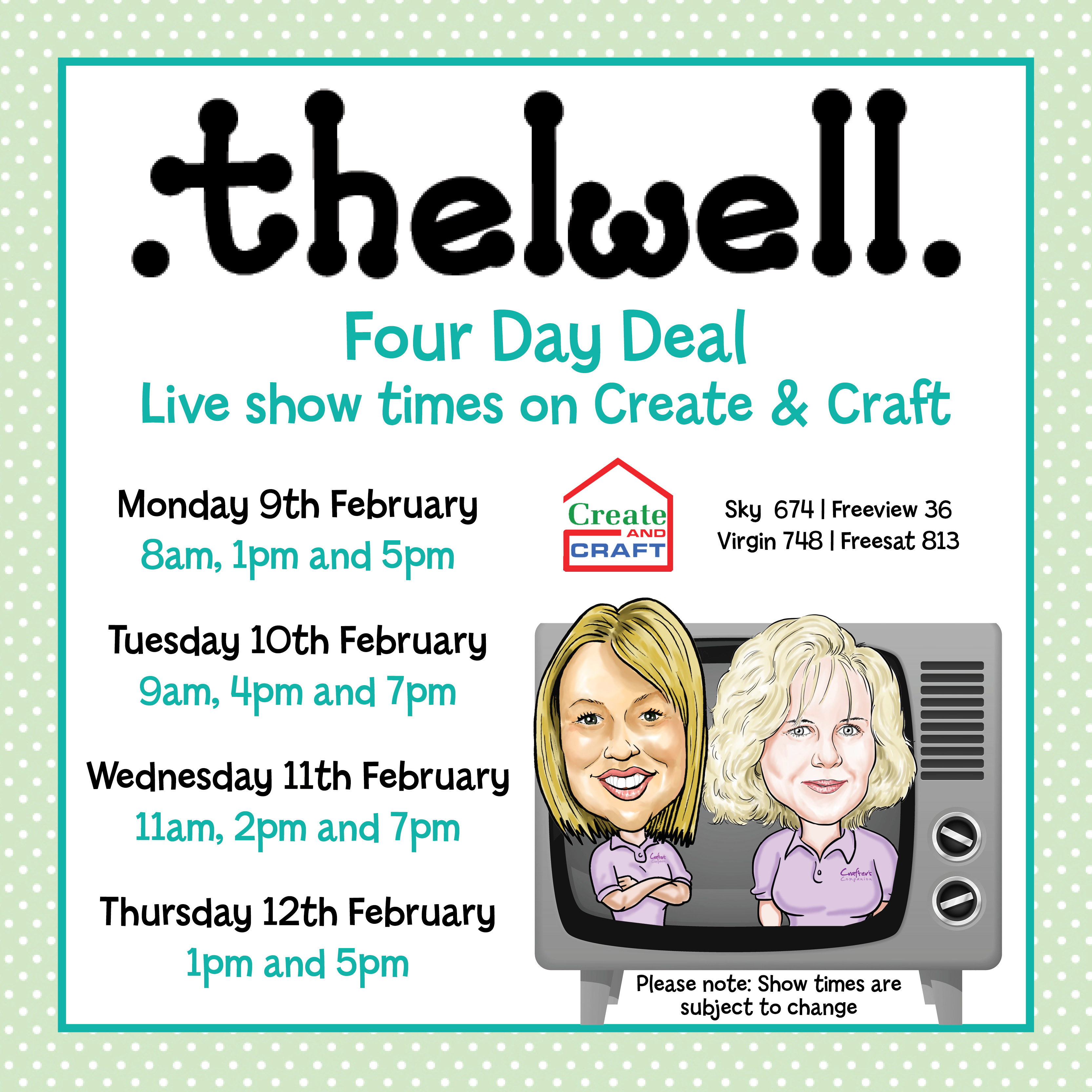 thelwell show times (FB)