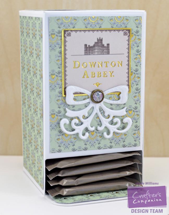 Step 10 - Downton Abbey Tea Bag Holder by Annie Williams, Detail