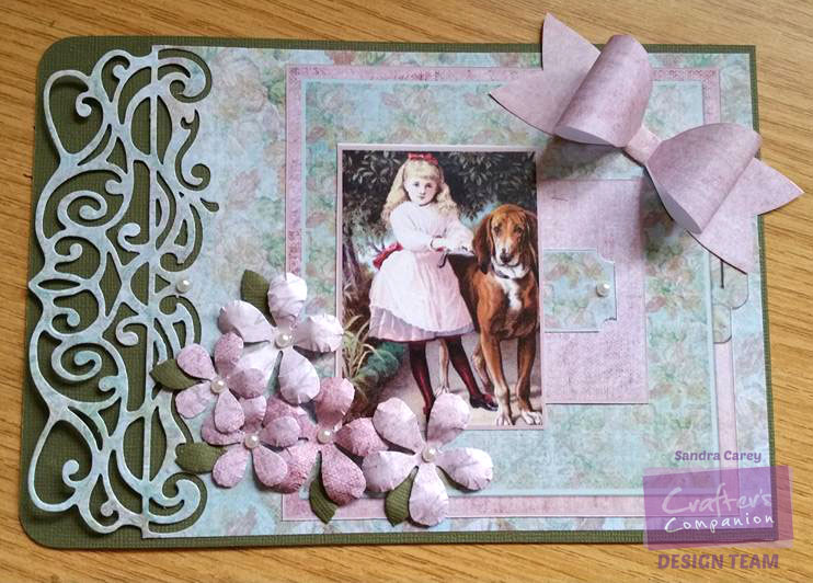 Use times gone by & coredinations papers to create this project