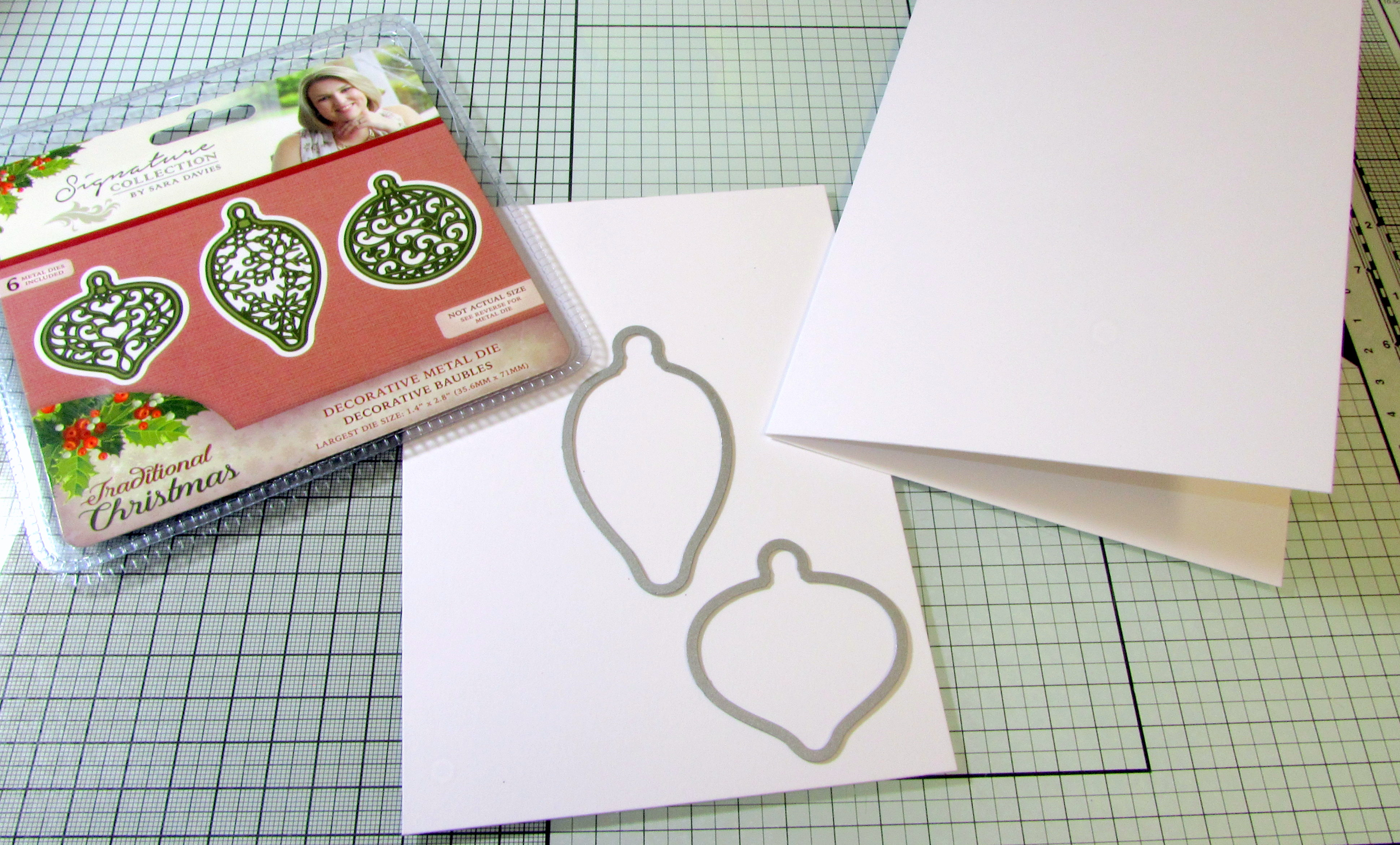 Place dies on folded card ready for cutting