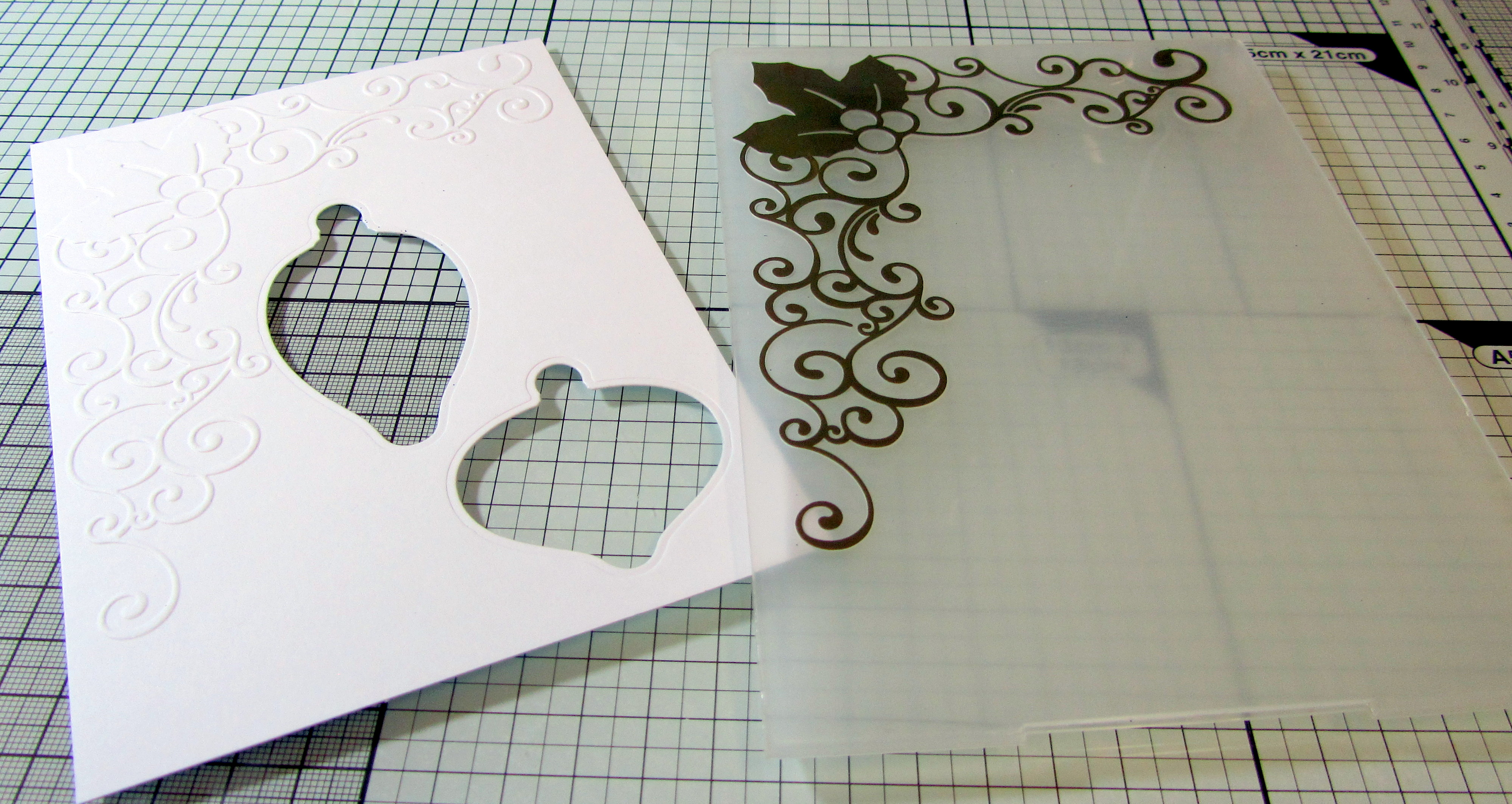 Emboss your card using the new Traditional Embossing Folders from Sara Davies