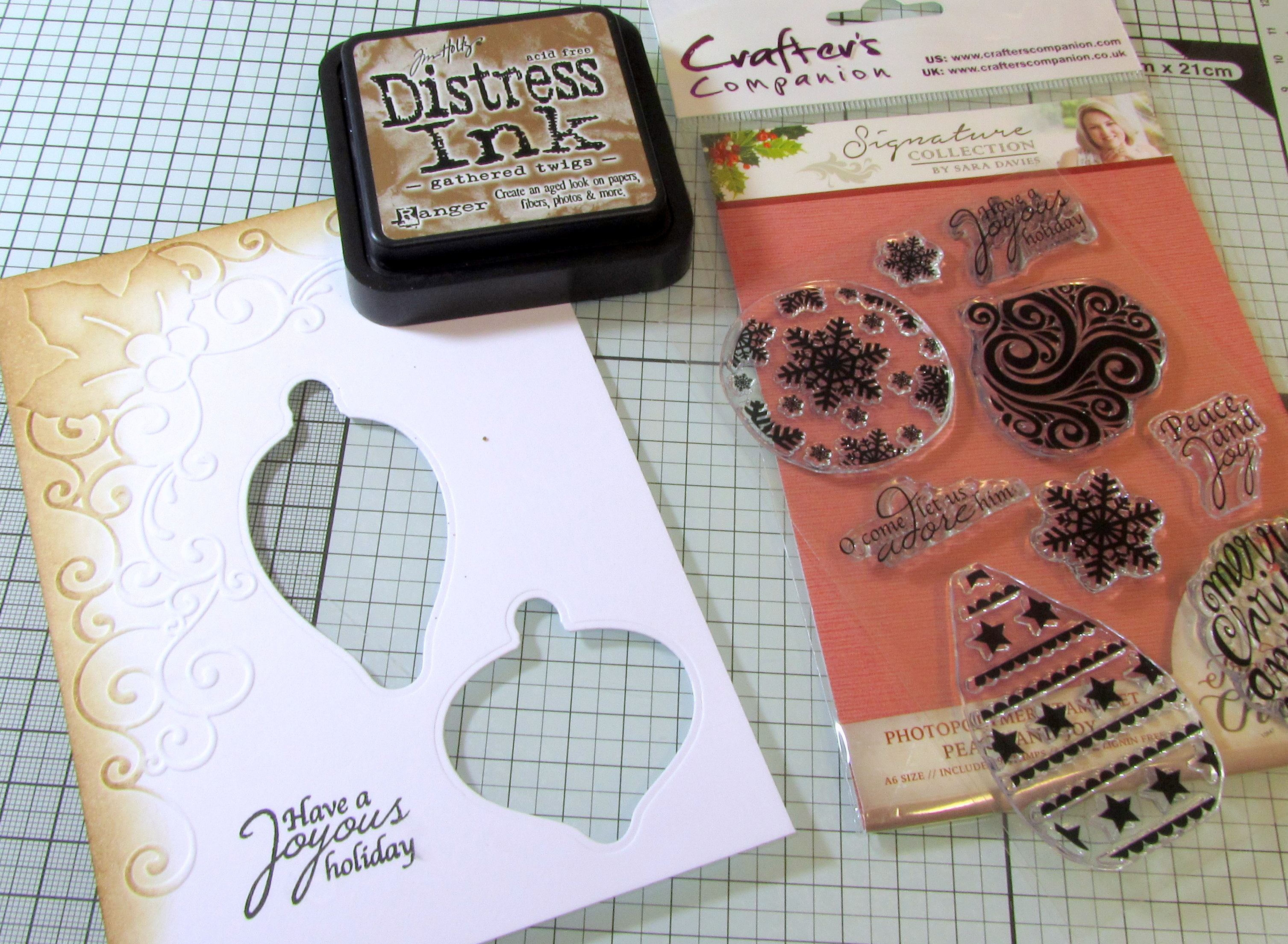 Distress your card with Ink