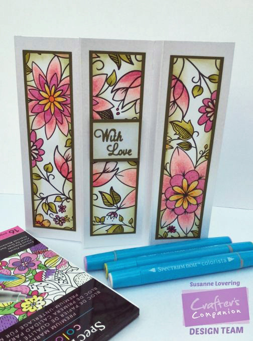 Colorista by Spectrum Noir Colorista Marker Card Making Kit Floral Inspirations