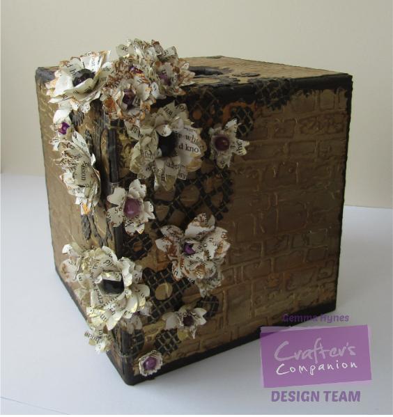 Decorated MDF tissue box